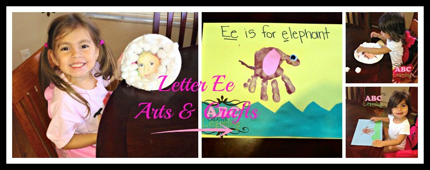 Letter Ee Arts and Crafts for Preschoolers and Toddlers