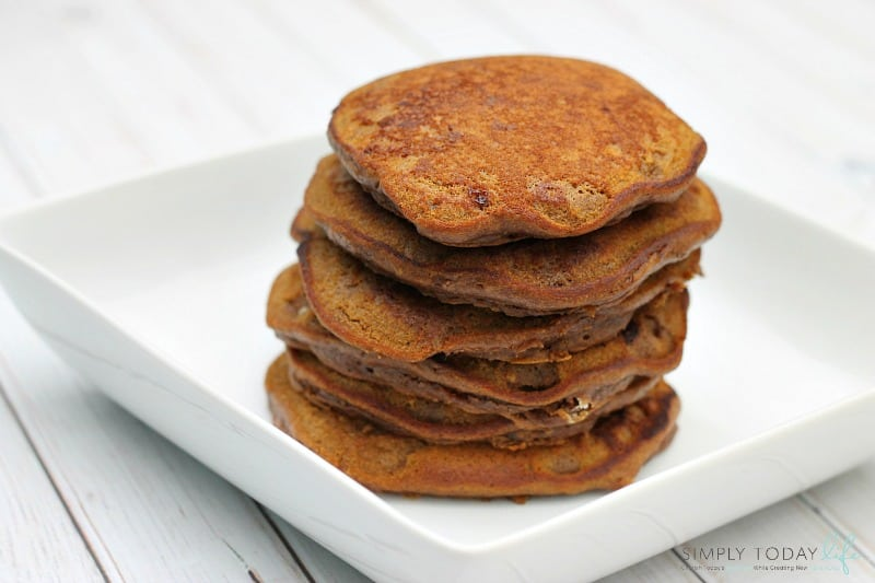 Easy Pumpkin Nutella Pancakes