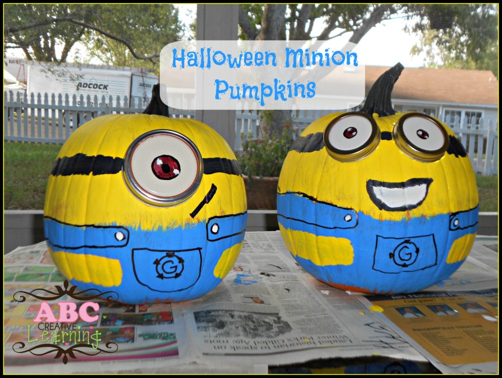 Halloween Minion Despicable Me Pumpkins Craft