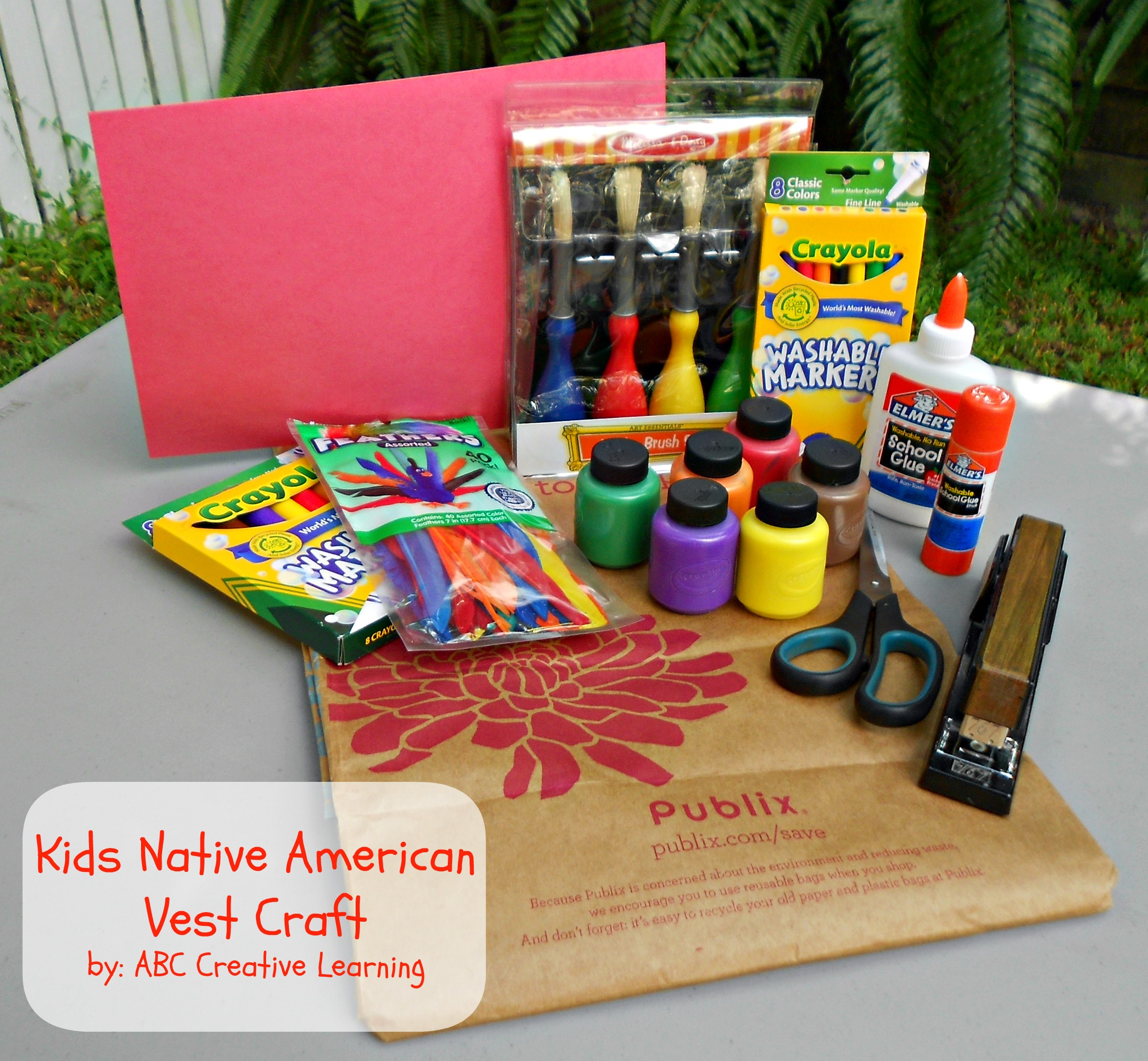 Kids Native American Vest Craft Materials
