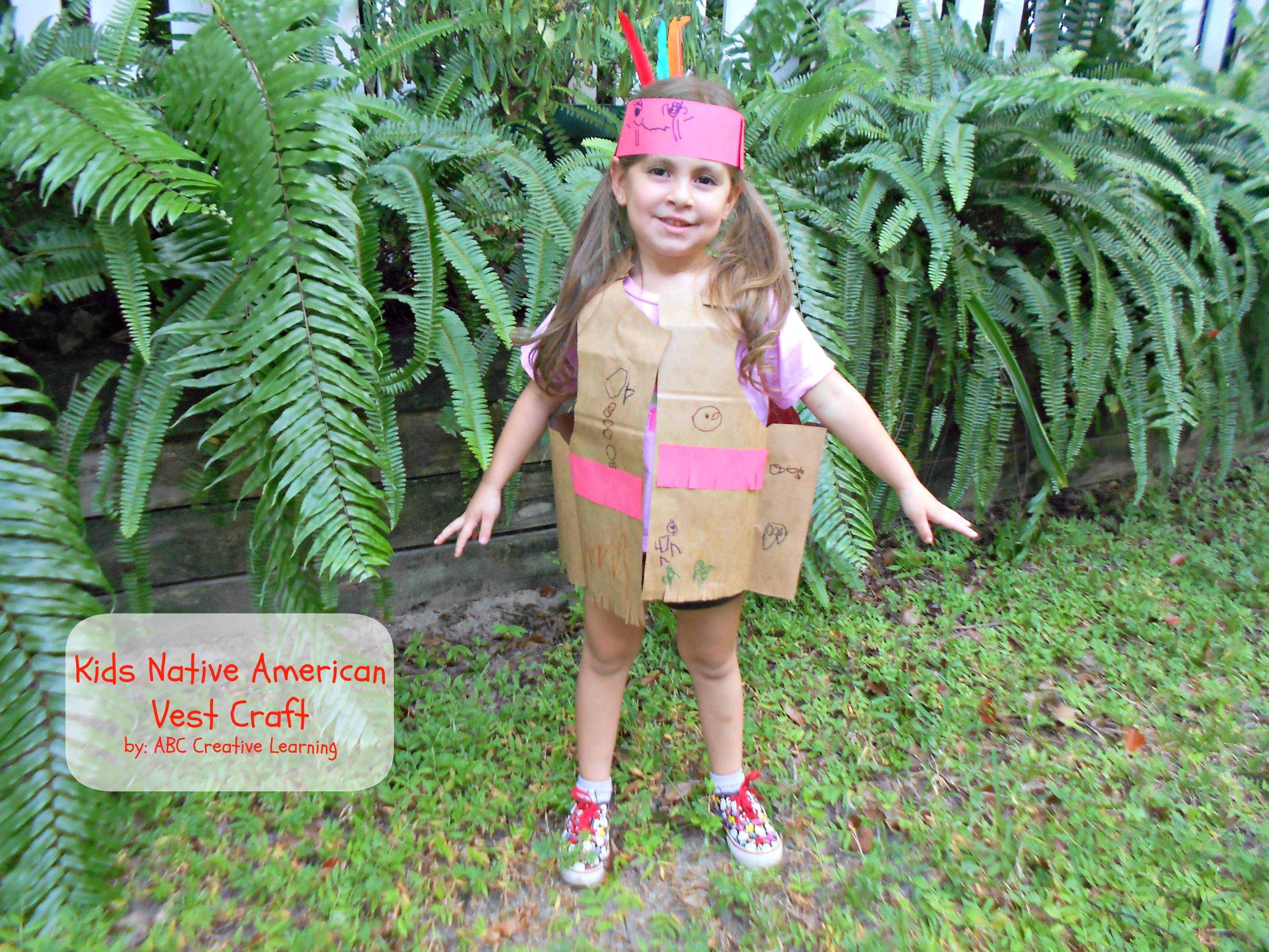 Kids Paper Bag Native American Vest