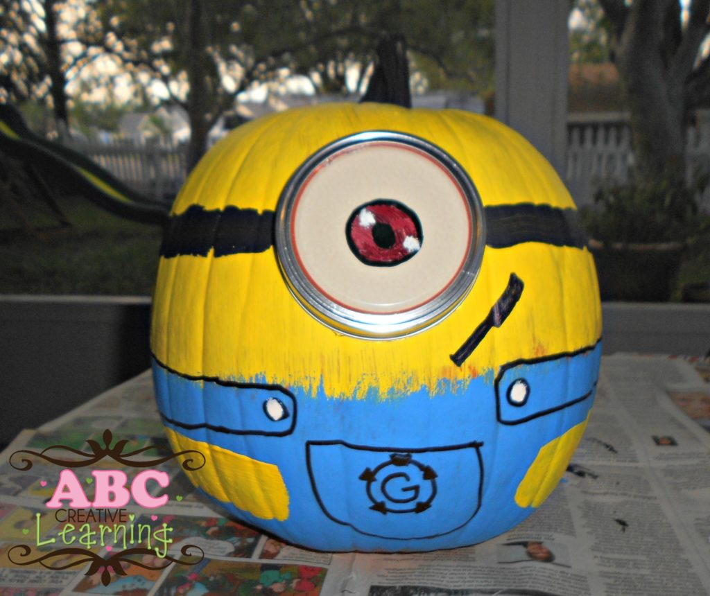 One Eyed Halloween Minion Pumpkin