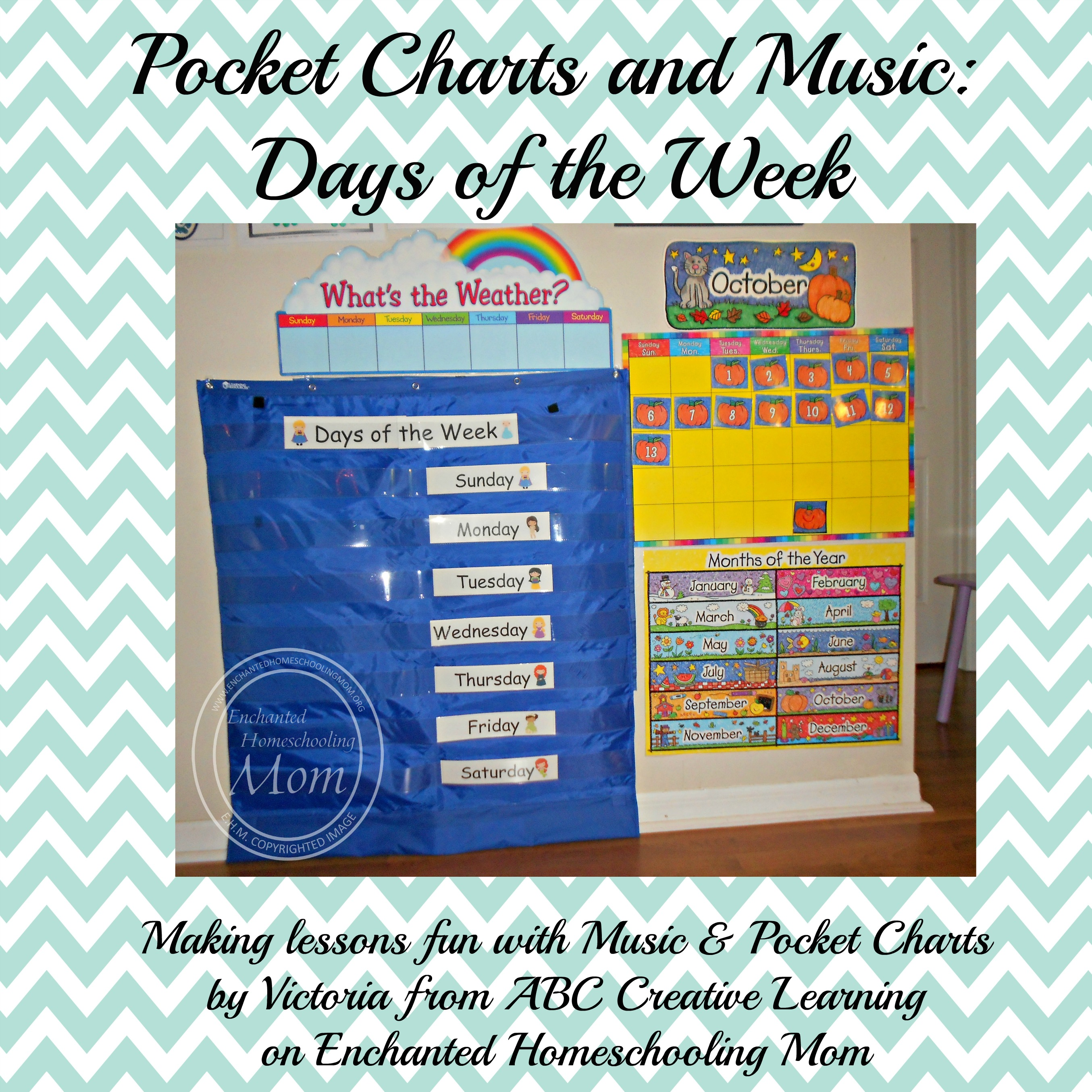 Pocket Charts and Music Days of the Week