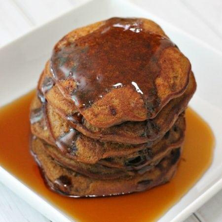 Pumpkin Nutella Pancakes