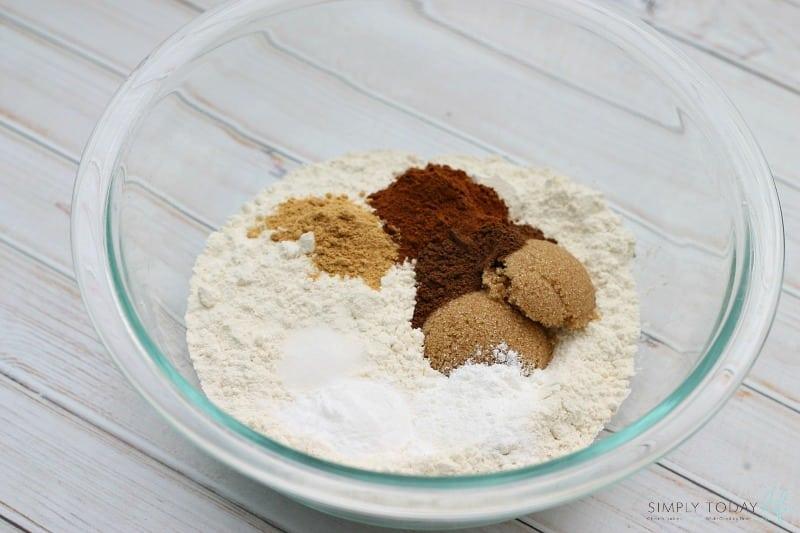 Pumpkin Nutella Pancakes Dry Ingredients