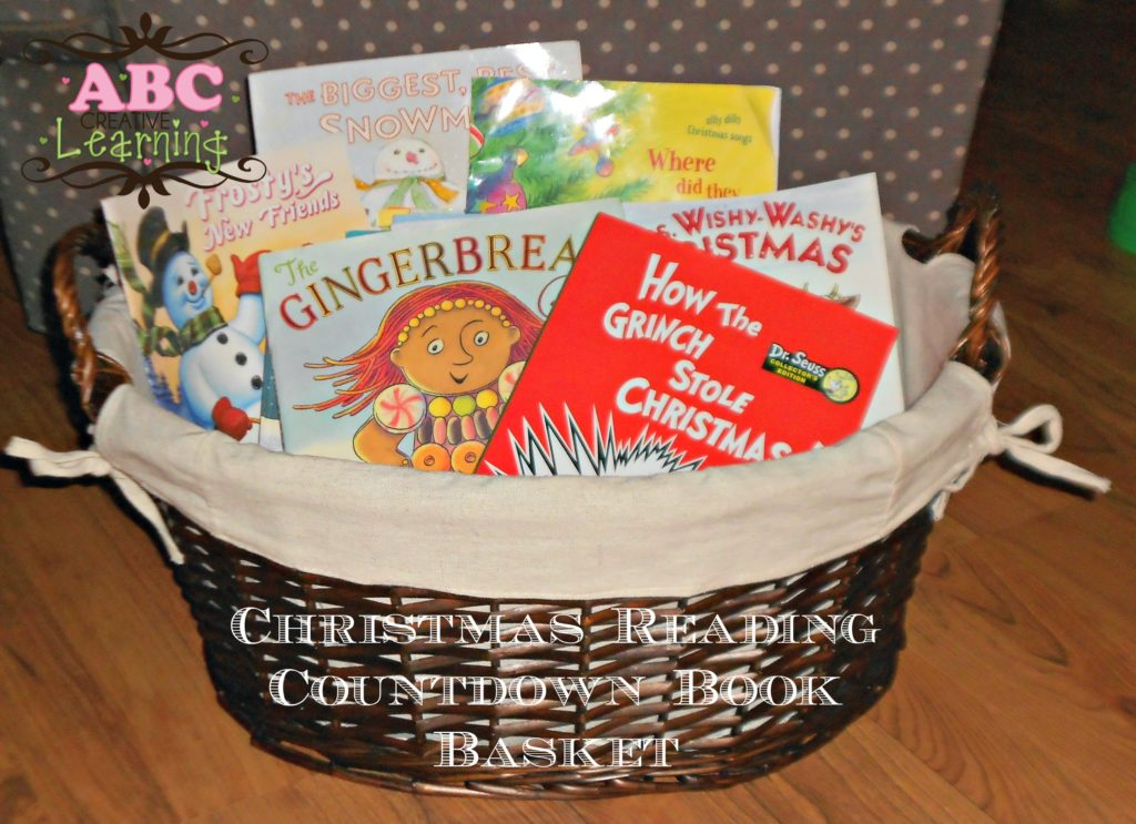 Christmas Reading Countdown Book Basket