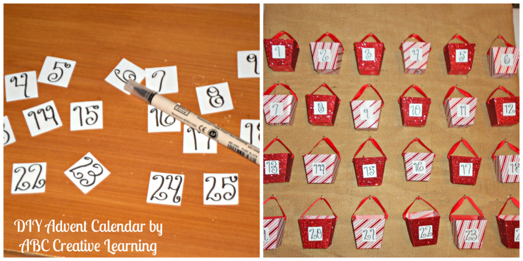 DIY Advent Calendar Numbers