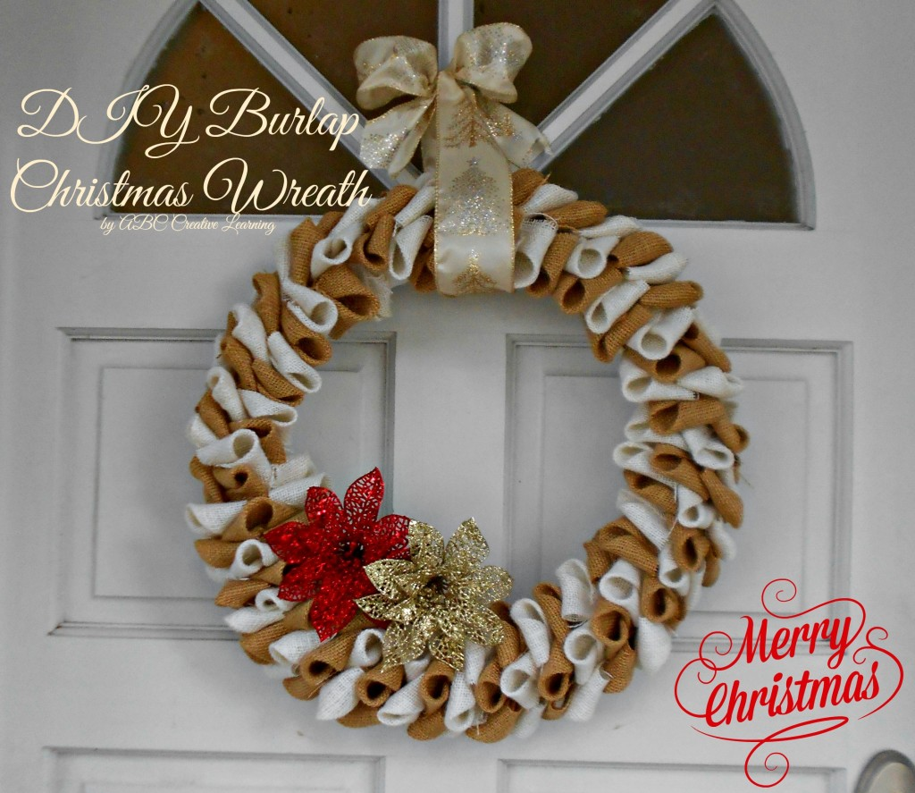DIY Burlap Christmas Wreath