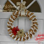 Burlap Christmas Wreath Guest Post