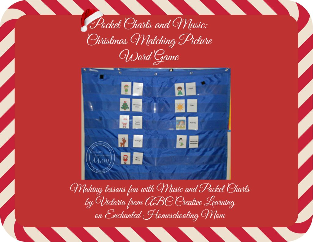 Pocket Chart Christmas Matching Picture and Word Game
