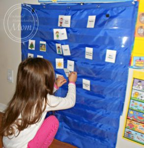 Pocket Chart Matching Game