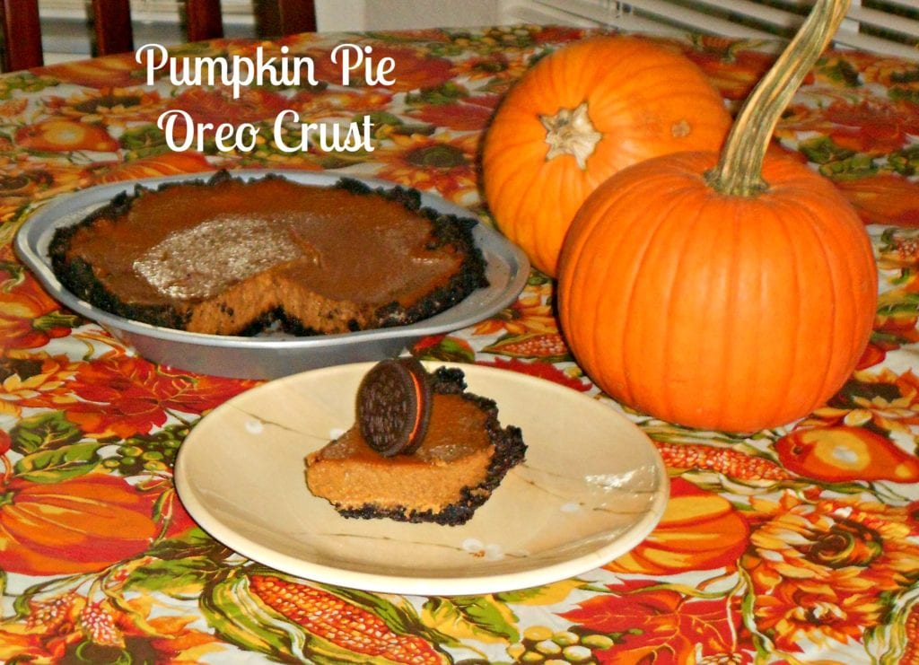 Pumpkin Pie Oreo Crust