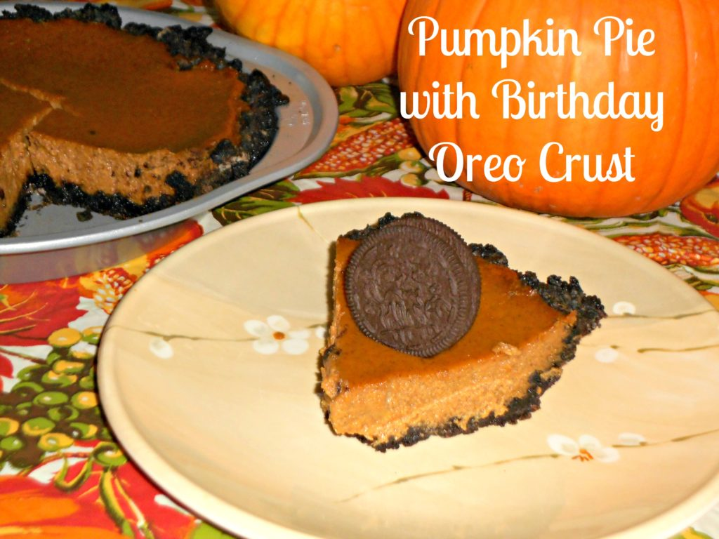Pumpkin Pie with Birthday Oreo Crust
