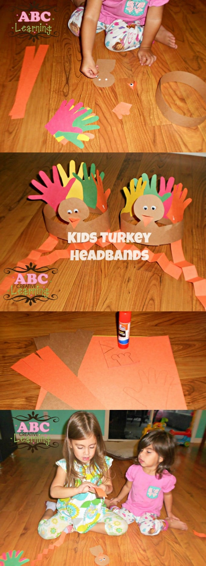 Turkey Headband Craft for Kids - simplytodaylife.com