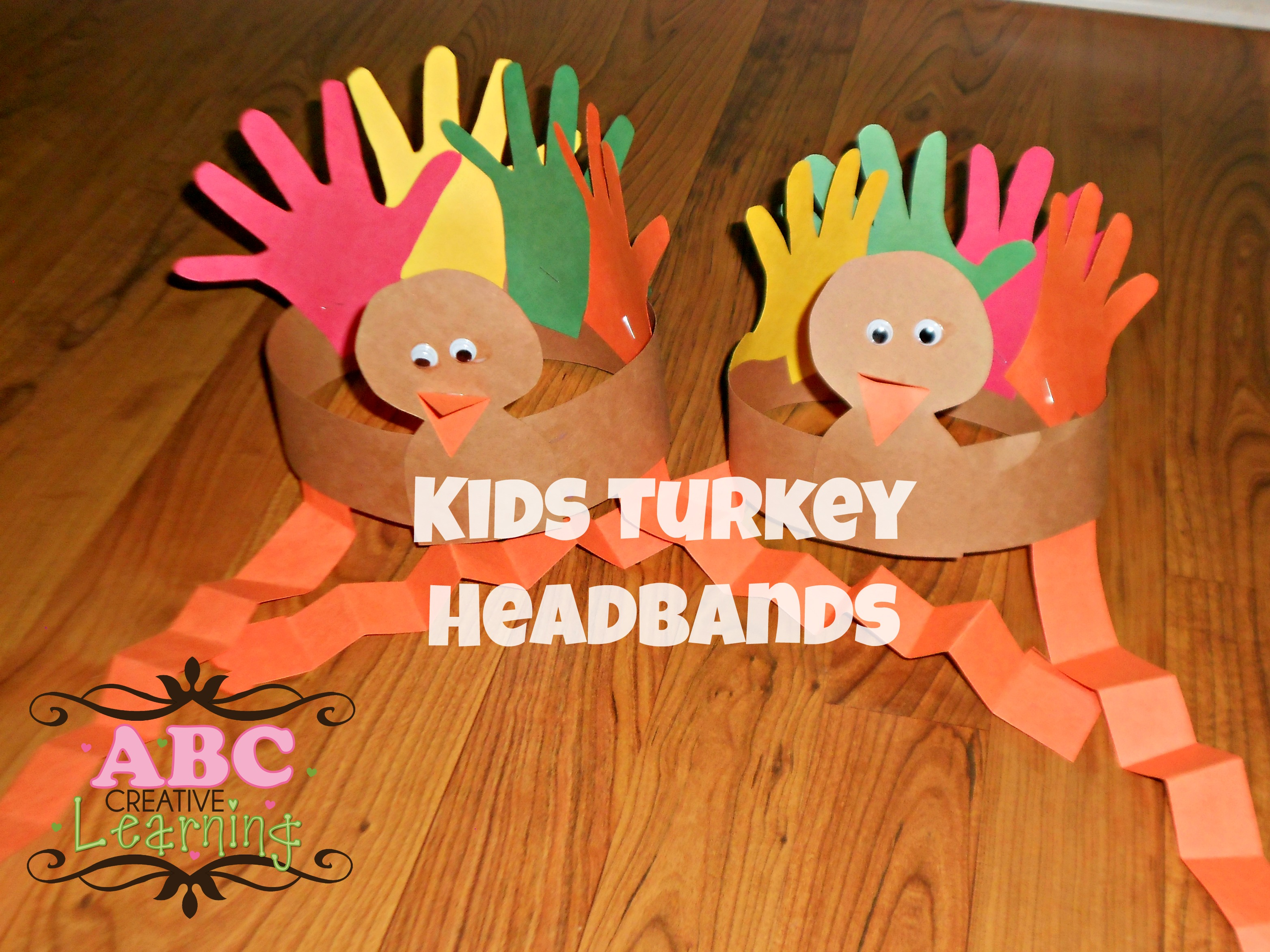 Turkey headband craft for kids for Thanksgiving turkey arts and crafts