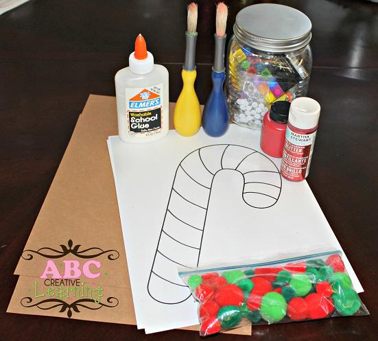 Candy Cane Reindeer Supplies
