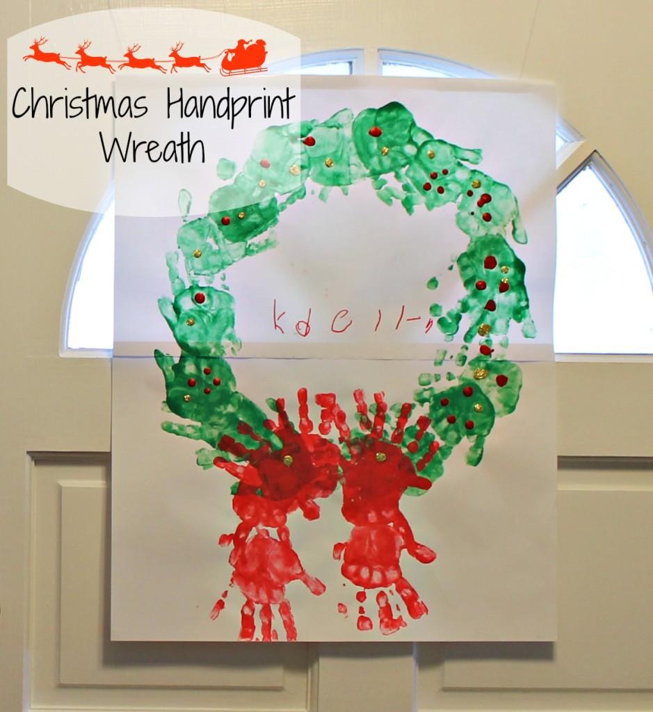 Christmas Handprint Wreath Craft for Kids