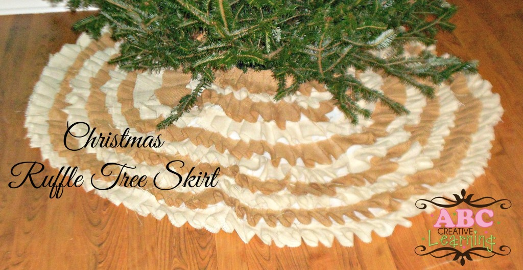 Christmas Ruffle Tree Skirt