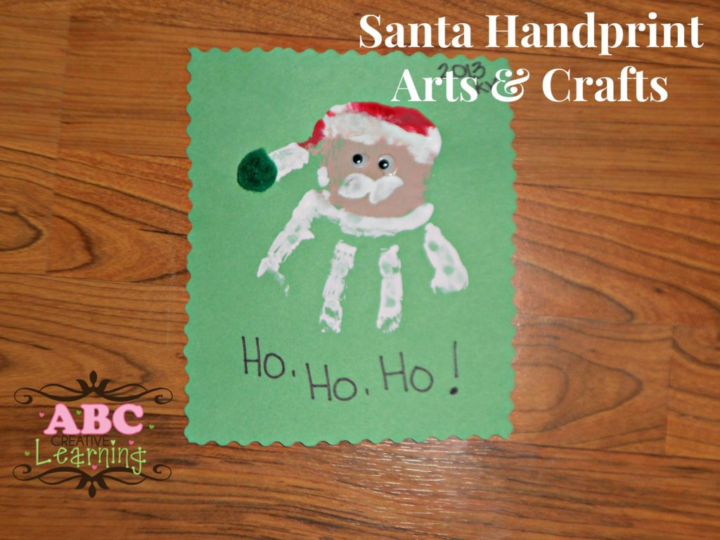Christmas Santa Handprint Arts and Crafts
