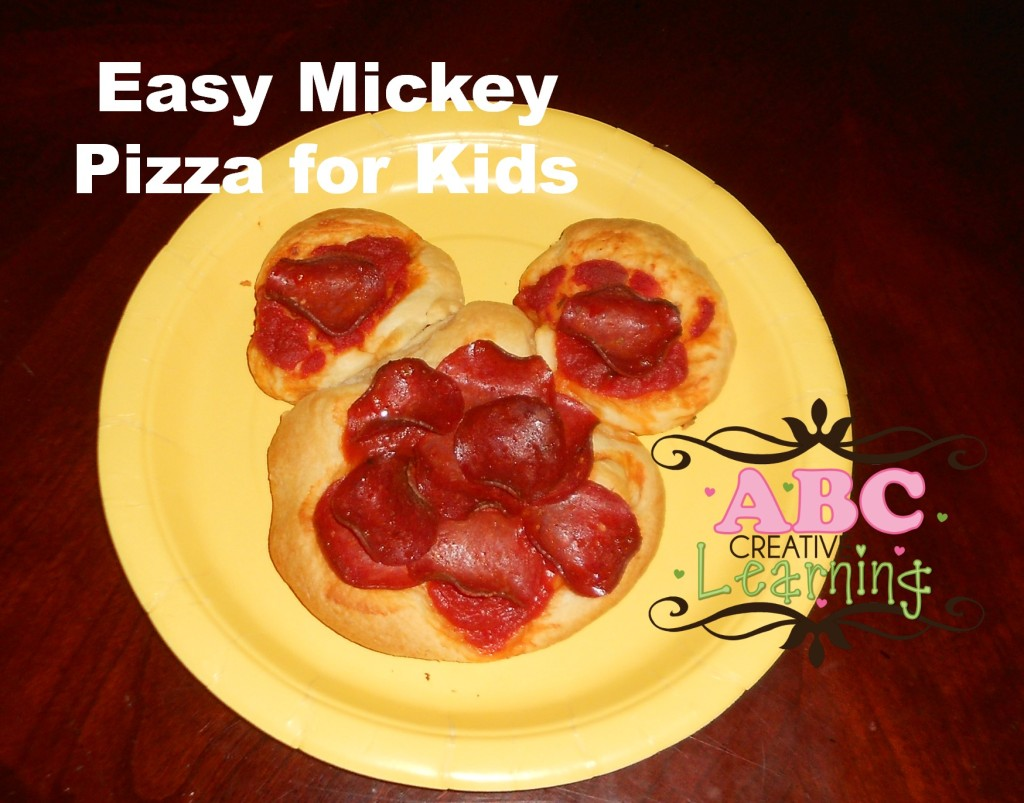Easy Mickey Pizza for Kids