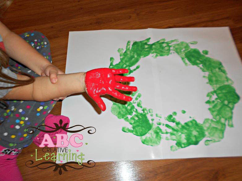 KIds Handprint Wreath