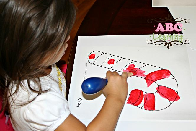Painting Candy Cane Craft
