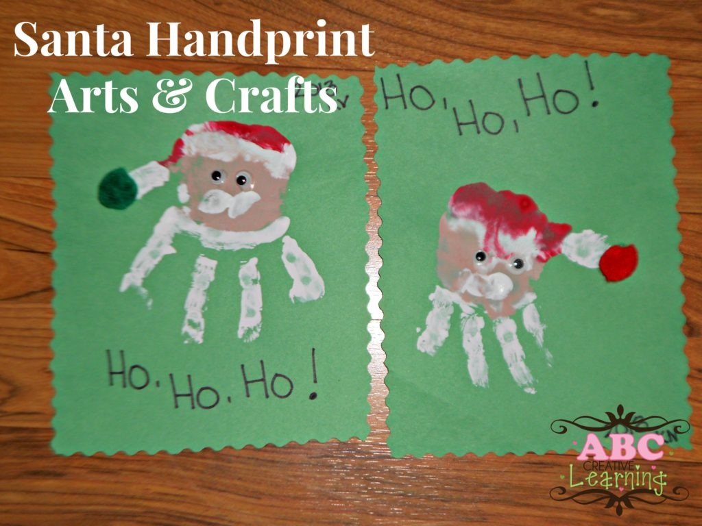 Santa Handprint Arts and Crafts for Kids