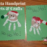 Santa Handprint Arts & Crafts for Kids