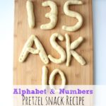 Alphabet & Numbers Pretzel Snack Recipe