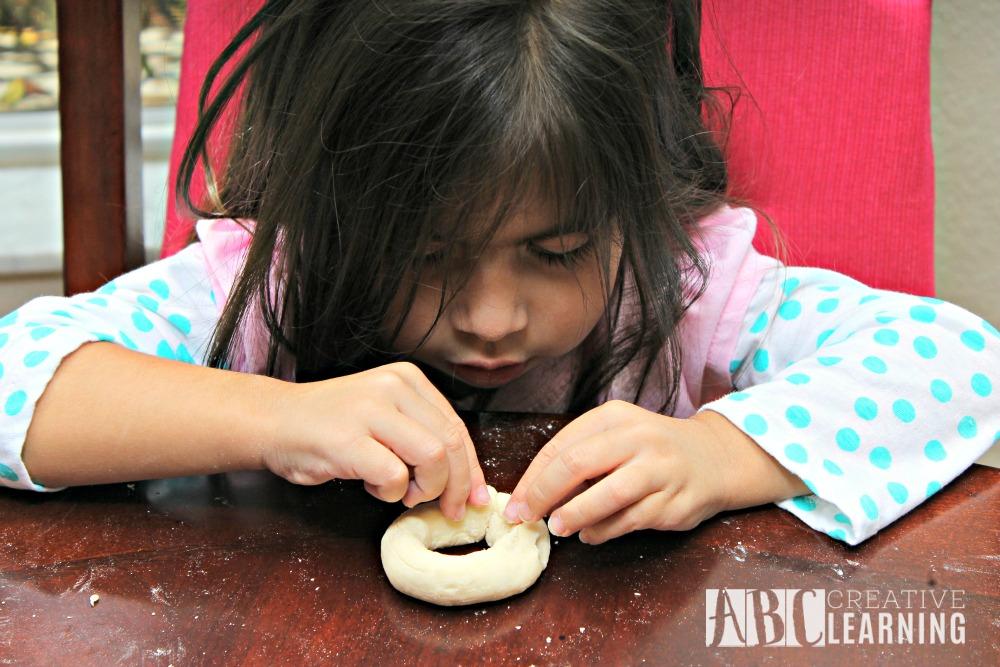 Alphabet & Numbers Pretzel Snack Recipe fine motor skills