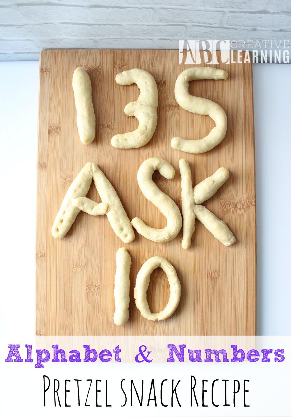 Alphabet & Numbers Pretzel Snack Recipe