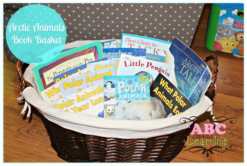 Arctic Animals Book Basket