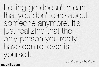 Conrol over yourself