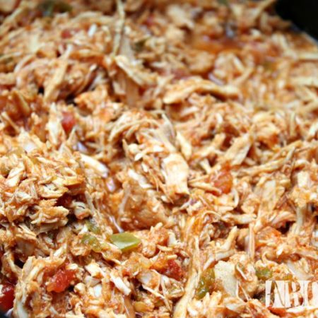 Easy Crock Pot Chicken Tacos shredded