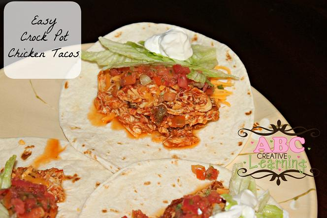 Easy Crock Pot Chicken Tacos