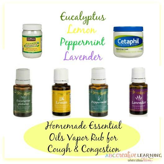 Essential Oils Vapor Rub for Cough Oils