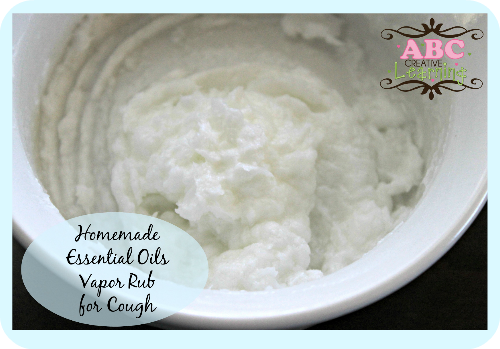 Homemade Essential Oils Vapor Rub for Cough