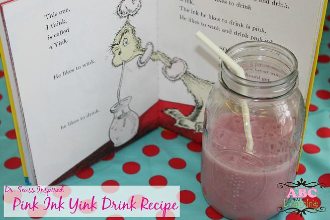 Dr. Seuss Pink Ink Yink Drink