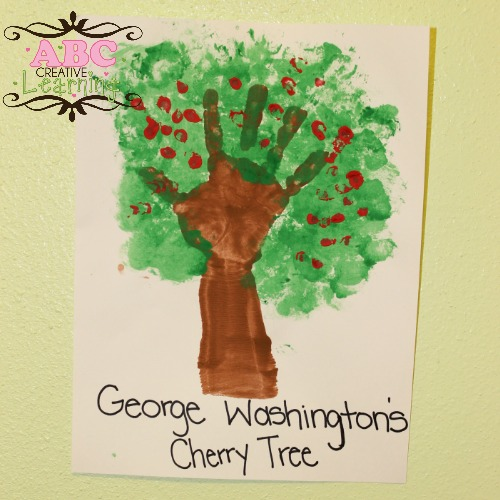 George Washington's Handprint Cherry Tree Craft