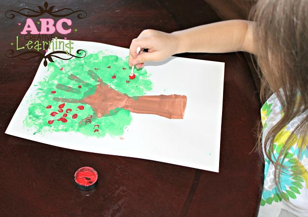 Kids Washington Cherry Tree Craft