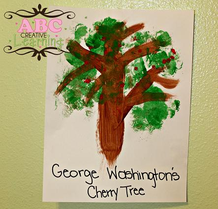 Washington Cherry Tree Craft for Kids