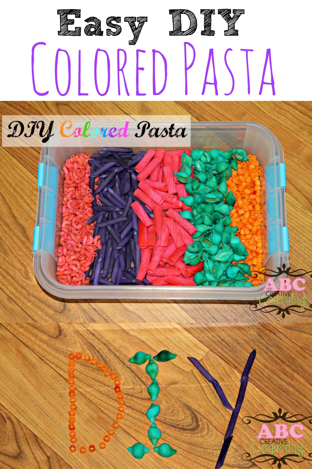 DIY Colored Pasta