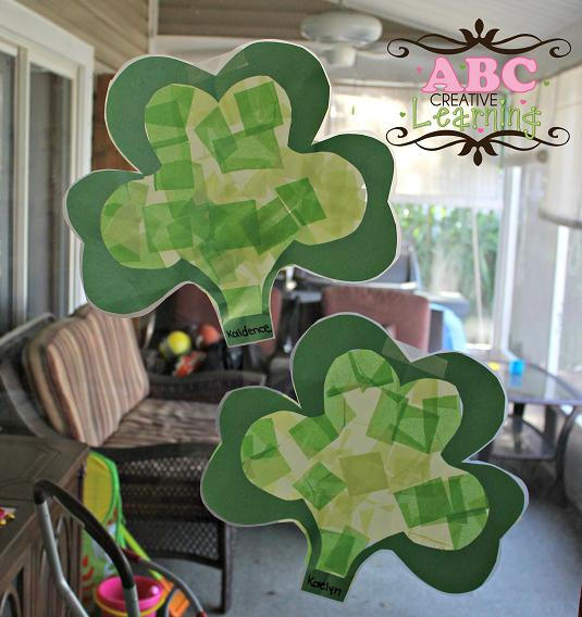 Kid Craft Shamrock Suncatchers