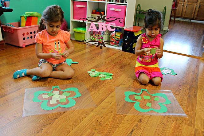 Making Kid Craft Shamrocks