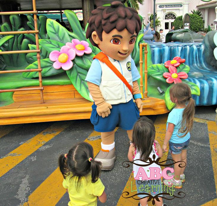 Meeting Diego at Universal Studios