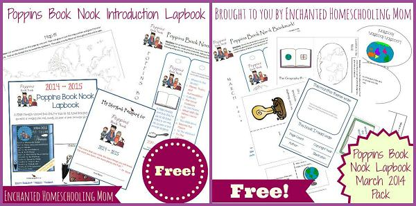 Poppins Book Nook Introduction and March Lapbook Free