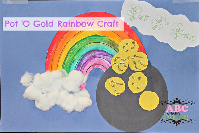 Rainbow with Pot of Gold Craft