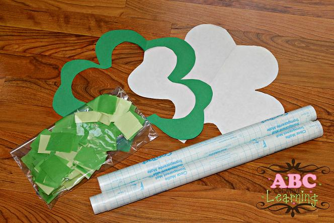 Shamrock Suncatchers Materials