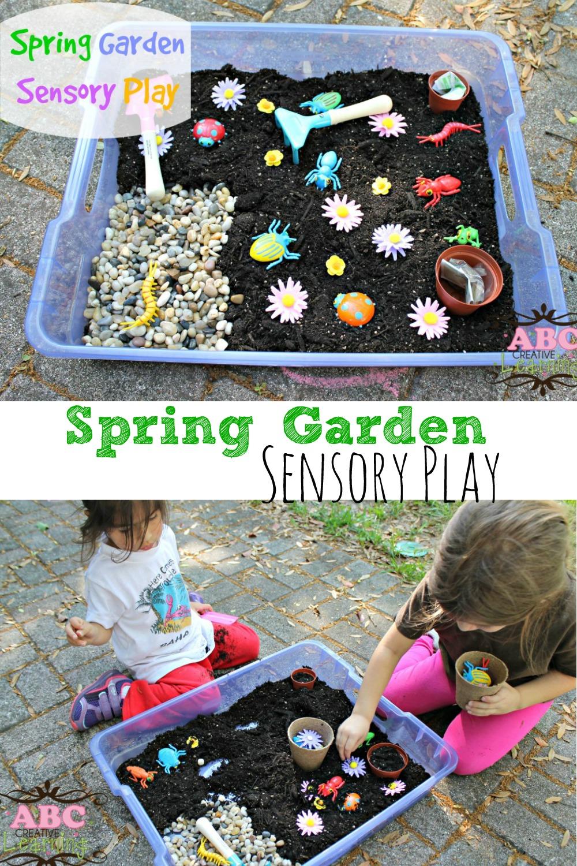 Spring Garden Sensory Play