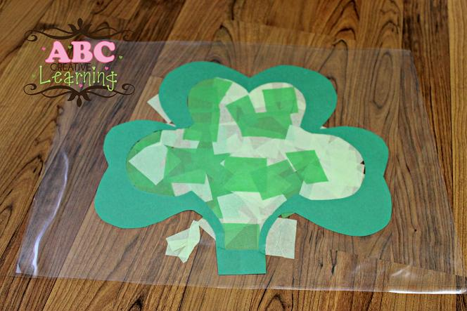 Stained Glass Shamrock Kid Craft